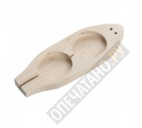 Плашка для опечатывания деревянная под 2 печати